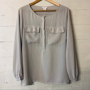 Joe Fresh Semi Sheer Blouse Size Medium
